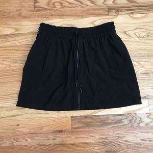 Athleta Zip Front Black Skort